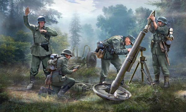ZVEZDA 6268 Mortier Allemand 120mm et 5 figurines