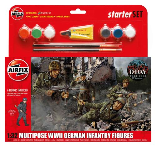 AIRFIX AX55210 German (WWII) Infantry Multi-Pose