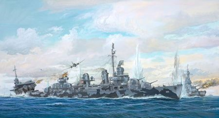Revell 05150 USS Fletcher Class Destroyer PLATINUM EDITION (série limitée)